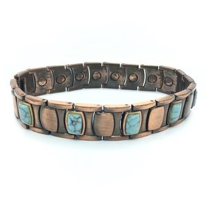 Other - Copper Turqoise Magnetic Bracelet Men's